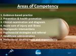 areas of competency