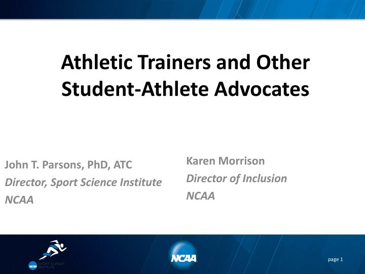 athletic trainers and other student athlete advocates n.