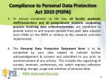 compliance to personal data protection act 2010 pdpa1