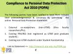compliance to personal data protection act 2010 pdpa3