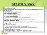 r d unit personnel