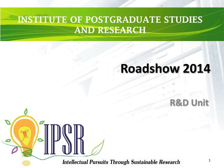 roadshow 2014 n.