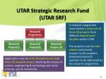 utar strategic research fund utar srf1