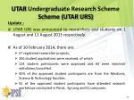 utar undergraduate research scheme scheme utar urs