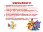 targeting children