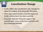 constitution change