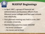 masfap beginnings
