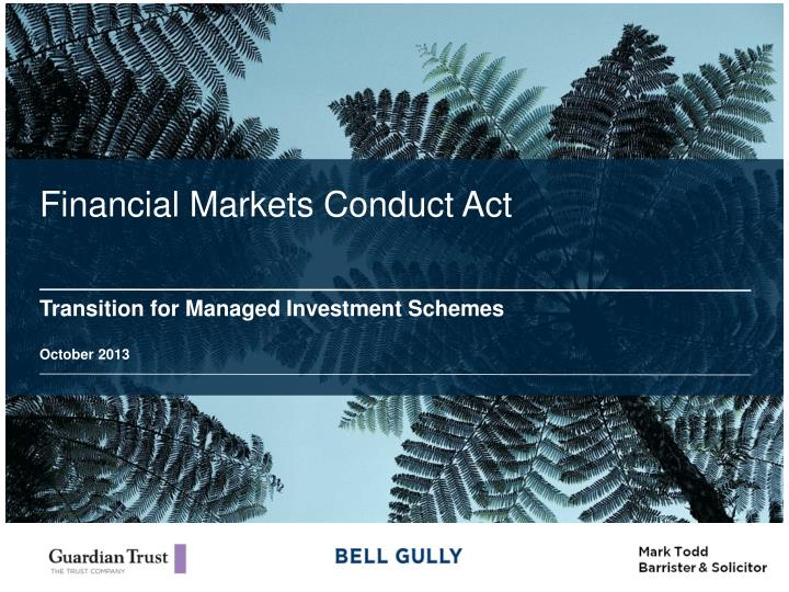 financial markets conduct act n.