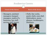 foodservice careers