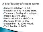 a brief history of recent events