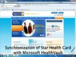 synchronization of star health card with microsoft healthvault