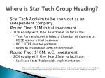 where is star tech group heading