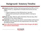 background statutory timeline