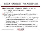 breach notification risk assessment