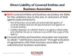 direct liability of covered entities and business associates1