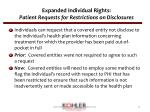 expanded individual rights patient requests for restrictions on disclosures