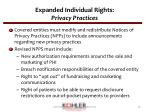 expanded individual rights privacy practices