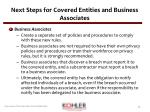 next steps for covered entities and business associates1