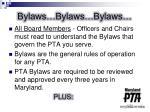 bylaws bylaws bylaws