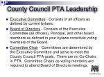 county council pta leadership