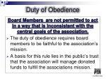 duty of obedience