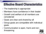 effective board characteristics