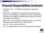 financial responsibilities continued1