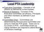 local pta leadership