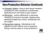non productive behavior continued1