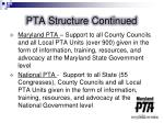 pta structure continued