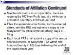 standards of affiliation continued1