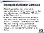 standards of affiliation continued2