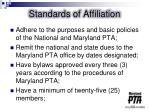 standards of affiliation