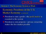 economic freedoms in the u s market economy continued