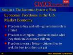 economic freedoms in the u s market economy