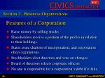 features of a corporation