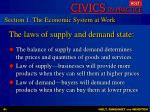 the laws of supply and demand state