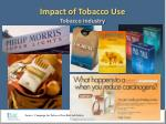 impact of tobacco use tobacco industry