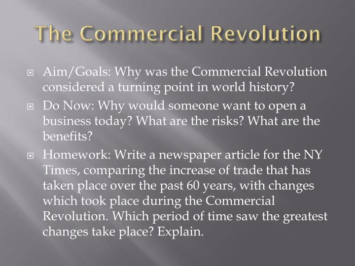 the commercial revolution n.