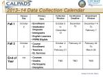 2013 14 data collection calendar