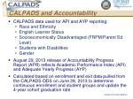 calpads and accountability