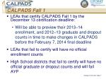 calpads fall 1