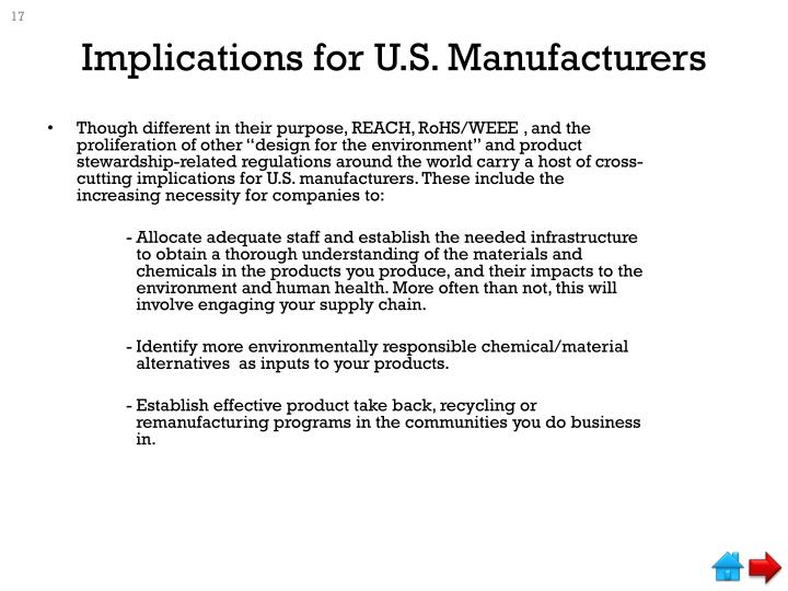 Implications for U.S. Manufacturers