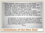 limitations of the new deal1