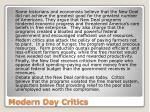 modern day critics