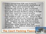 the court packing fiasco