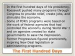 the first hundred days