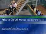 private cloud manage data center services