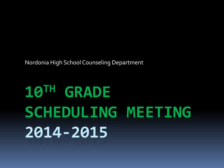 nordonia high school counseling department n.