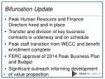 bifurcation update